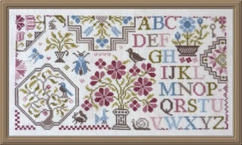 Sampler Au Bouquet 3 - Cross Stitch Pattern