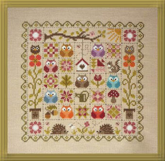 Patchwork Aux Chouettes - Cross Stitch Pattern