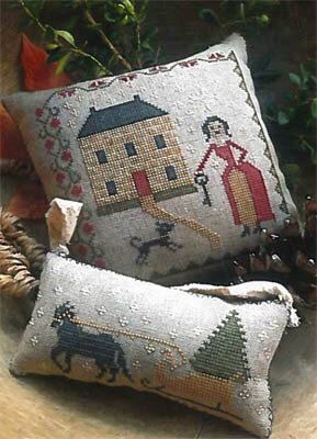 Sleigh Bells Pinkeep & Ornament - Cross Stitch Pattern