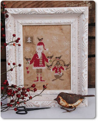 Santa and the Little Birds - Cross Stitch Pattern