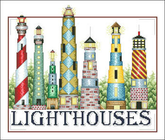 Lighthouses - Cross Stitch Pattern