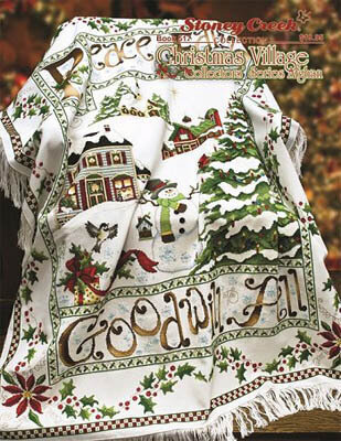 Christmas Village Collector's Series Afghan