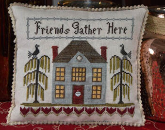 Friends Gather Here - Cross Stitch Pattern