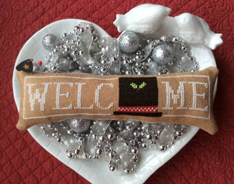 Wee Welcome - January Snowman Hat - Cross Stitch Pattern