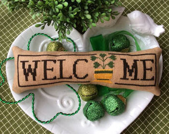 Wee Welcome -March Shamrock - Cross Stitch Pattern