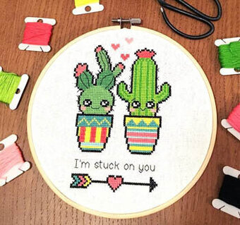 I'm Stuck on You - Cross Stitch Pattern