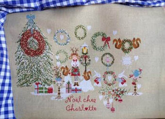 Noel Chez Charlotte - Cross Stitch Pattern