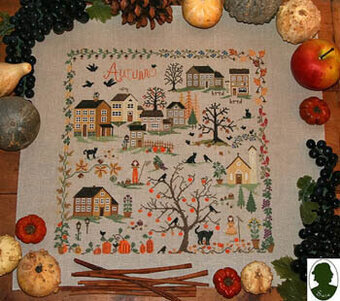 Autunno - Autumn (includes button) - Cross Stitch Pattern