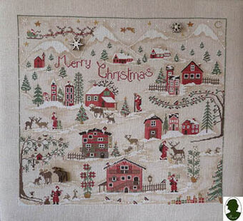 Christmas Village  (includes buttons - Cross Stitch Pattern