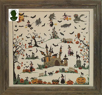 Halloween (w/buttons)- Cross Stitch Pattern