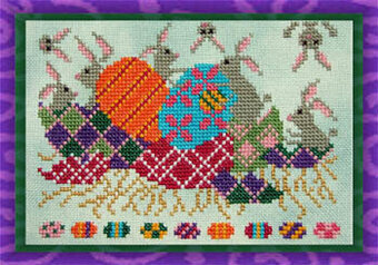 Who Hid Our Easter Eggs? - Cross Stitch Pattern