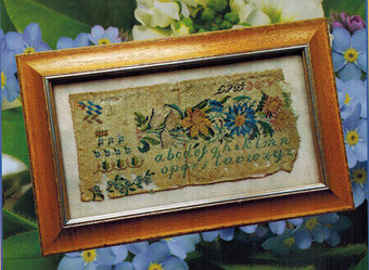 Antique Sampler Fragment 1834 - Cross Stitch Pattern