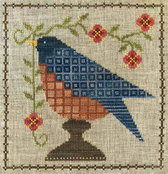 Bluebird Garden - Cross Stitch Pattern