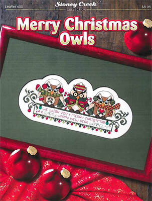 Merry Christmas Owls - Cross Stitch Pattern