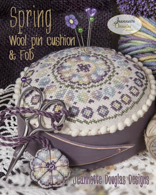 Spring Wool Pin Cushion & Fob - Cross Stittch Pattern