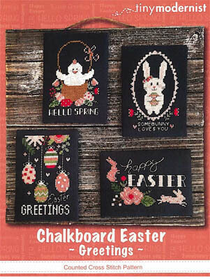 Chalkboard Easter Greetings - Cross Stitch Pattern