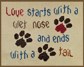 Doggie Love - Cross Stitch Pattern