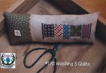 Washing 5 Quilts - Cross Stitch Pattern