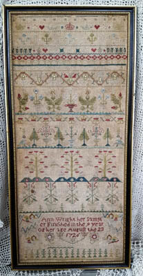 Ann Wright 1726 - Cross Stitch Pattern