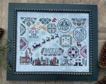 Holiday Quaker - Cross Stitch Pattern