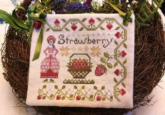 Dinah's Garden - Strawberry - Cross Stitch Pattern