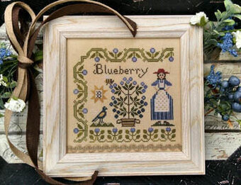 Dinah's Garden - Blueberry - Cross Stitch Pattern