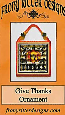 Give Thanks Ornament - Cross Stitch Pattern