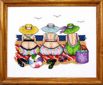 Beach Ladies - Cross Stitch Pattern