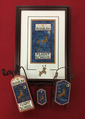 Rudolph Flight School - Cross Stitch Pattern