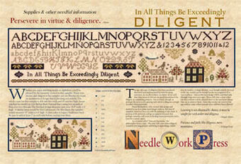In All Things Be Exceedingly Diligent - Cross Stitch Pattern