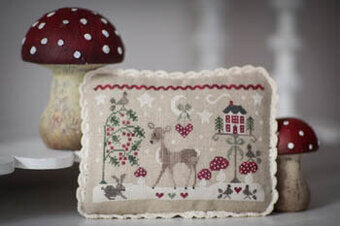 Tableautin D'Hiver - Winter Tableau - Cross Stitch Pattern