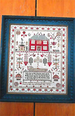 Esther Iddison 1832 Sampler - Cross Stitch Pattern