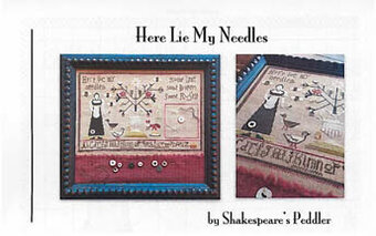 Here Lie My Needles - Cross Stitch Pattern