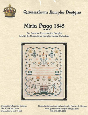 Miria Bugg 1845 - Cross Stitch Pattern