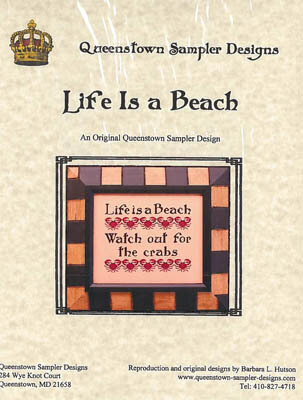 Life is a Beach - Cross Stitch Pattern