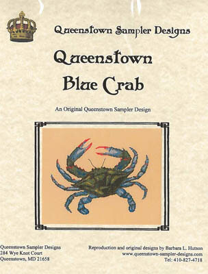 Queenstown Blue Crab - Cross Stitch Pattern