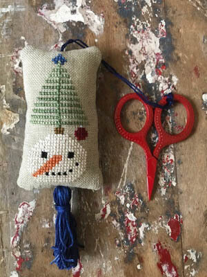 Snowman Scissor Fob - Cross Stitch Pattern