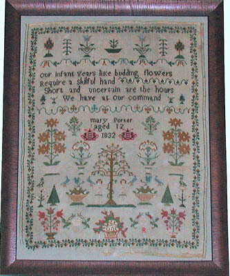 Mary Porter 1832 - Cross Stitch Pattern