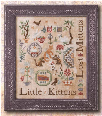 Three Little Kittens - Cross Stitch Pattern