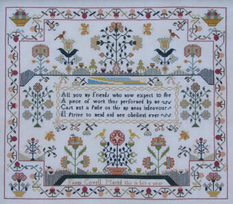 Fanny Covell c 1790 - Cross Stitch Pattern