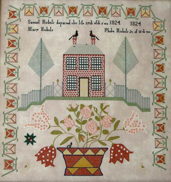 Phebe Nichols 1824 - Cross Stitch Pattern