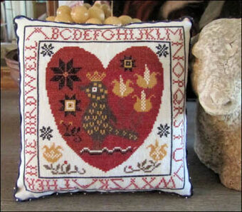 Pennsylvania Fraktur Heart - Cross Stitch Pattern
