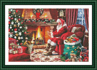 Warming By The Fire - Cross Stitch Pattern