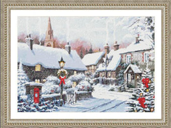 Winter Village Corner - Cross Stitch Pattern