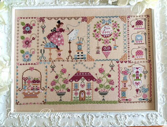 Stitching in Quilt - Cross Stitch Pattern