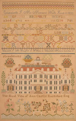 Elizabeth JM Mears 1833 - Cross Stitch Pattern