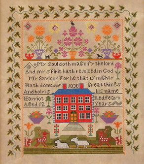 Harriot Redfearn 1830  - Cross Stitch Pattern