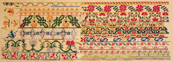 Mexican Garden c1860 - Cross Stitch Pattern