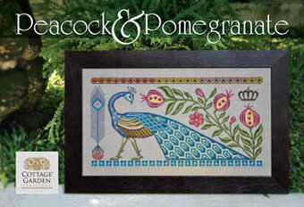 Peacock & Pomegranate - Cross Stitch Pattern