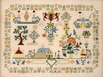 Dutch Sampler 1787 - Cross Stitch Pattern